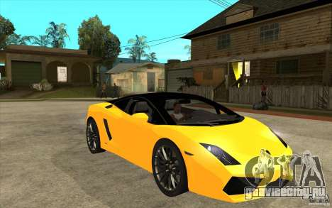 Lamborghini Gallardo LP560 Bicolore для GTA San Andreas вид сзади
