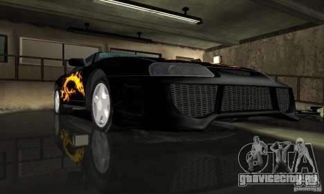 Toyota Supra Tuneable для GTA San Andreas вид сбоку