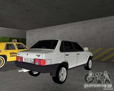 Ваз 21099 Light Tuned для GTA Vice City вид сзади слева
