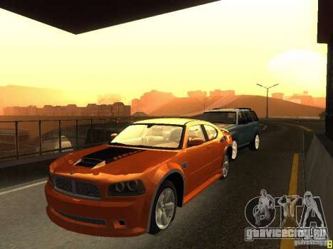 Dodge Charger From NFS CARBON для GTA San Andreas вид слева
