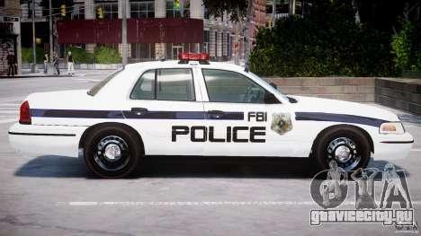 Ford Crown Victoria 2003 FBI Police V2.0 [ELS] для GTA 4 салон