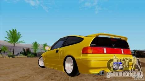 Honda CRX Hella Flush для GTA San Andreas вид справа
