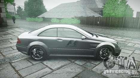 Mercedes Benz CLK63 AMG Black Series 2007 для GTA 4 вид изнутри