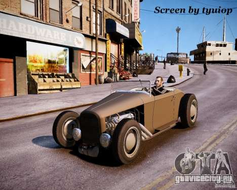 Roadster High Boy для GTA 4 вид изнутри