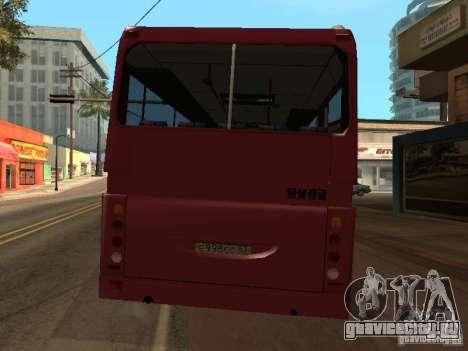 ГолАЗ-ЛиАЗ 5256R для GTA San Andreas вид изнутри