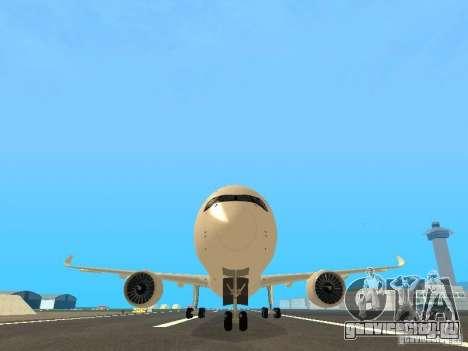 Airbus A350-900 Singapore Airlines для GTA San Andreas вид сбоку