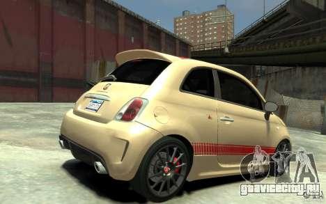 Fiat 500 Abarth Esseesse V1.0 для GTA 4 вид справа