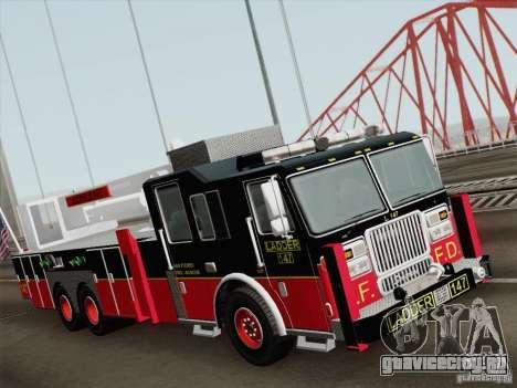 Seagrave Marauder II. SFFD Ladder 147 для GTA San Andreas вид слева