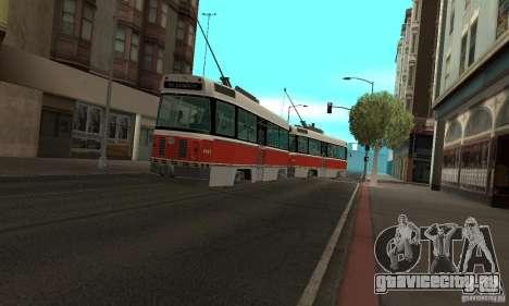 Canadian Light Rail для GTA San Andreas вид слева
