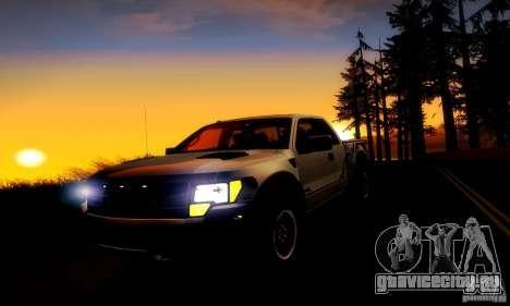 Ford F-150 SVT Raptor V1.0 для GTA San Andreas вид изнутри