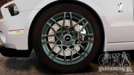 Ford Shelby GT500 2013 для GTA 4 вид изнутри