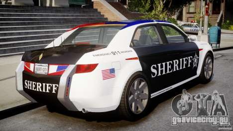 Carbon Motors E7 Concept Interceptor Sherif ELS для GTA 4 вид сзади слева