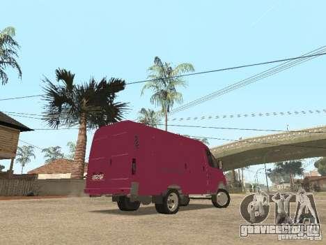 ГАЗель 2705 для GTA San Andreas вид снизу