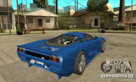Saleen S7 Twin Turbo Custom Tuned для GTA San Andreas вид справа