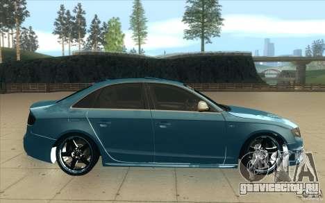 Audi S4 2009 для GTA San Andreas вид изнутри