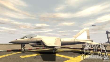 Liberty City Air Force Jet (с шосси) для GTA 4 вид слева