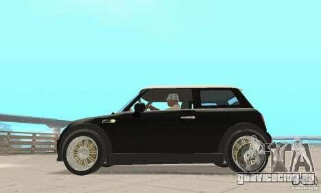 Mini Cooper Hardtop для GTA San Andreas вид сзади слева