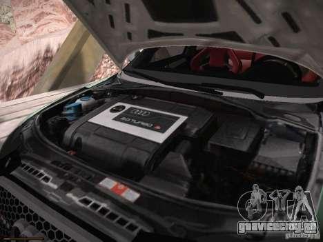 Audi RS3 2011 для GTA San Andreas вид изнутри