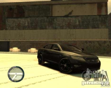 Ford Taurus Police Interceptor Stealth для GTA 4 вид слева