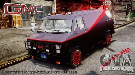 GMC Vandura A-Team Van 1983 для GTA 4