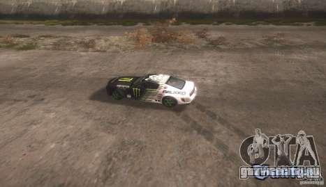 Ford Mustang Monster Energy для GTA San Andreas вид справа