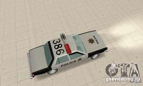 Dodge Diplomat 1985 Police для GTA San Andreas вид сзади слева