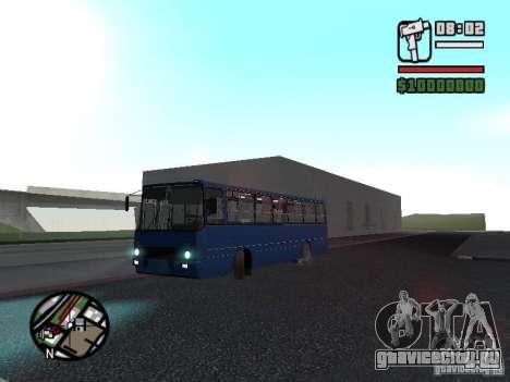 Ikarus 260.51 для GTA San Andreas вид изнутри