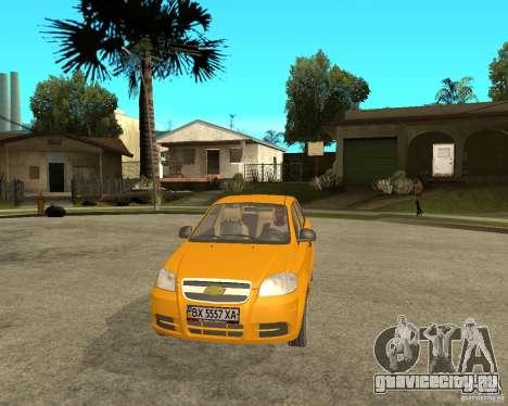 Chevrolet Aveo 2007 для GTA San Andreas вид сзади