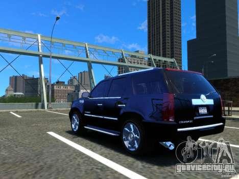 Cadillac Escalade v3 для GTA 4 вид сзади слева