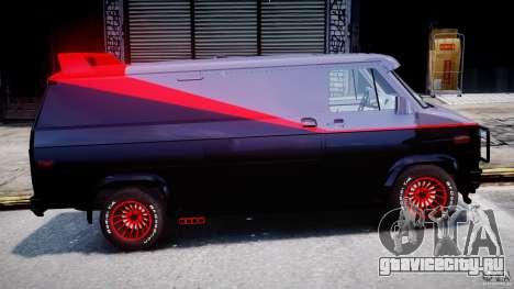 GMC Vandura A-Team Van 1983 для GTA 4 вид сбоку