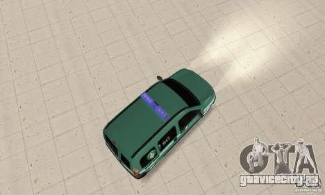 Renault Kangoo Straz Graniczna для GTA San Andreas вид сзади слева
