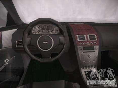 Aston Martn DB9 2008 для GTA San Andreas вид сзади