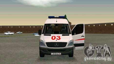 Mercedes-Benz Sprinter Реанимация для GTA San Andreas вид слева