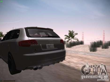 Audi RS3 2011 для GTA San Andreas вид сзади слева