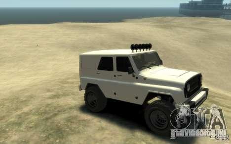 UAZ Hunter final для GTA 4 вид справа