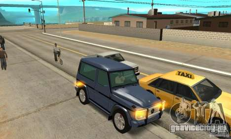 Mercedes-Benz G500 1999 Short [with kangoo v1] для GTA San Andreas вид изнутри