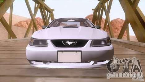 Ford Mustang GT 1999 для GTA San Andreas вид снизу