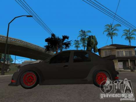 Dacia Logan Tuned для GTA San Andreas вид слева