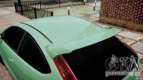 Ford Focus RS для GTA 4 вид сбоку