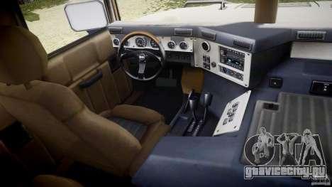 Hummer H1 Original для GTA 4 вид сзади