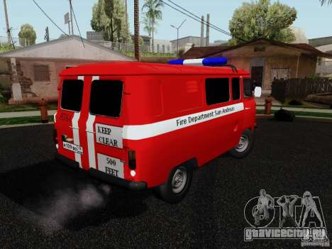 УАЗ-3909 Пожарная служба для GTA San Andreas вид слева