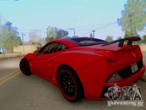 Ferrari California Hamann 2011 для GTA San Andreas вид сбоку