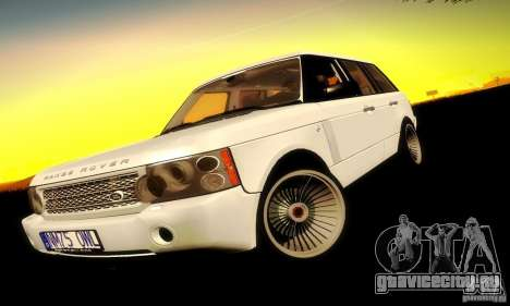 Range Rover Supercharged для GTA San Andreas вид сзади слева