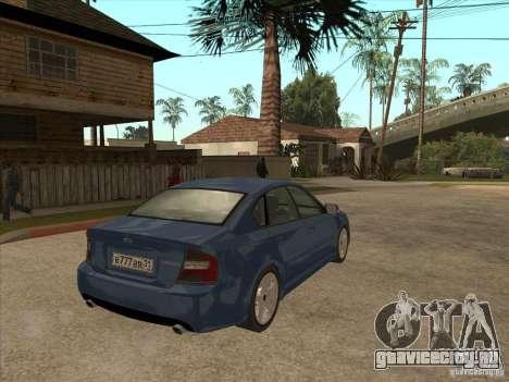 Subaru Legacy 3.0 R для GTA San Andreas вид справа