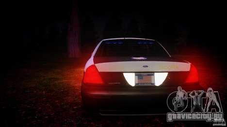 Ford Crown Victoria 2003 Florida CVPI [ELS] для GTA 4 салон