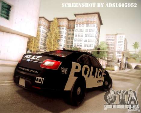 Ford Taurus Police Interceptor 2011 для GTA San Andreas вид сбоку