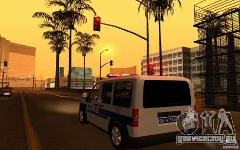 Ford Transit Connect Turkish Police для GTA San Andreas вид сзади слева