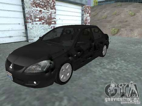 Mitsubishi Lancer 1.6 для GTA San Andreas вид сбоку