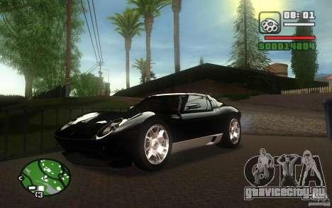 Lamborghini Miura Concept для GTA San Andreas вид сбоку