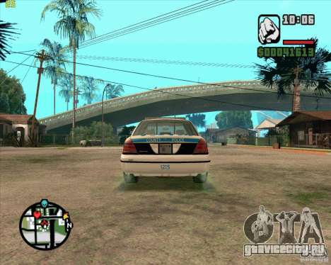Ford Crown Victoria Baltmore County Police для GTA San Andreas вид справа